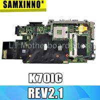 For Asus K70IC REV2.1 Laptop Motherboard System Board Main Board Mainboard Card Logic Board Tested