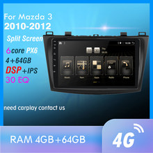 4G + 64Gb PX6 Auto Multimedia Speler Voor Maz Da 3 2010-2012 Maxx Axela Android 10 radio Auto Navigatie Gps 4G Wifi Achter Cam Dab +(China)