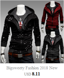 H554380c6d2374a409fed792c21dc761dC Bigsweety Fashion 2018 New Autumn Winter Men's Jacket Male Color Matching Jacket Male's Hooded Coat Outwear