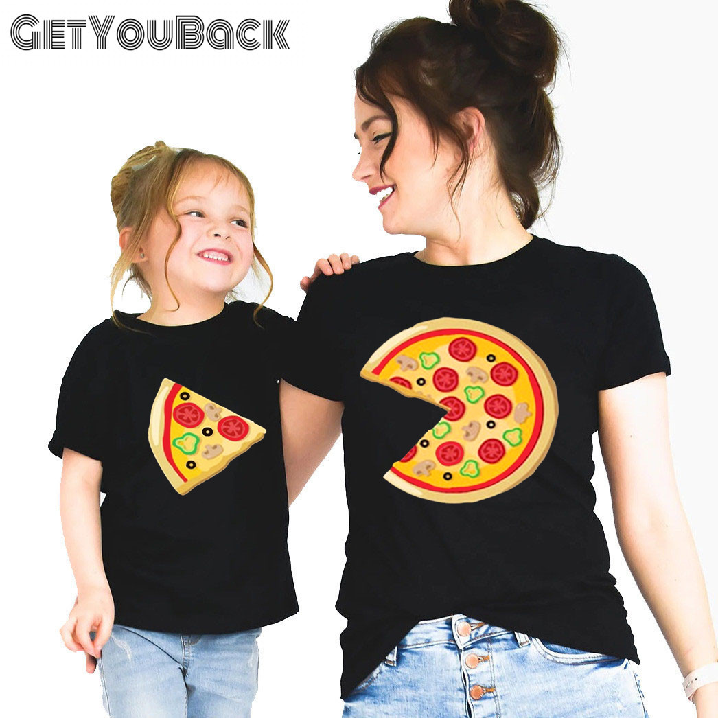 Family Mommy And Me T shirt Baby Boy Girl Fashion Black Funny Clothes Mother and Daughter Son Tops Tee,Drop Ship