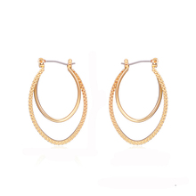 NJ Fashion Classic Gold Big Circle Earrings For Woman Bohemia Simple Party Sexy Ladies Jewelry