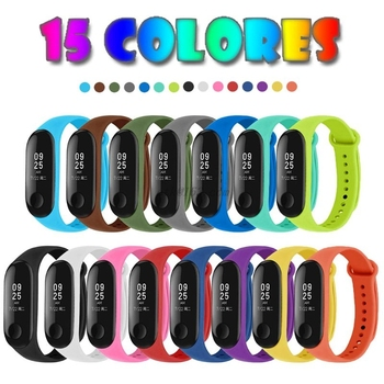 15pcs Straps for Xiao mi Mi Band 3 / Mi Smart Band 4 Bracelets Silicone Watch Band Replacement 15 colors