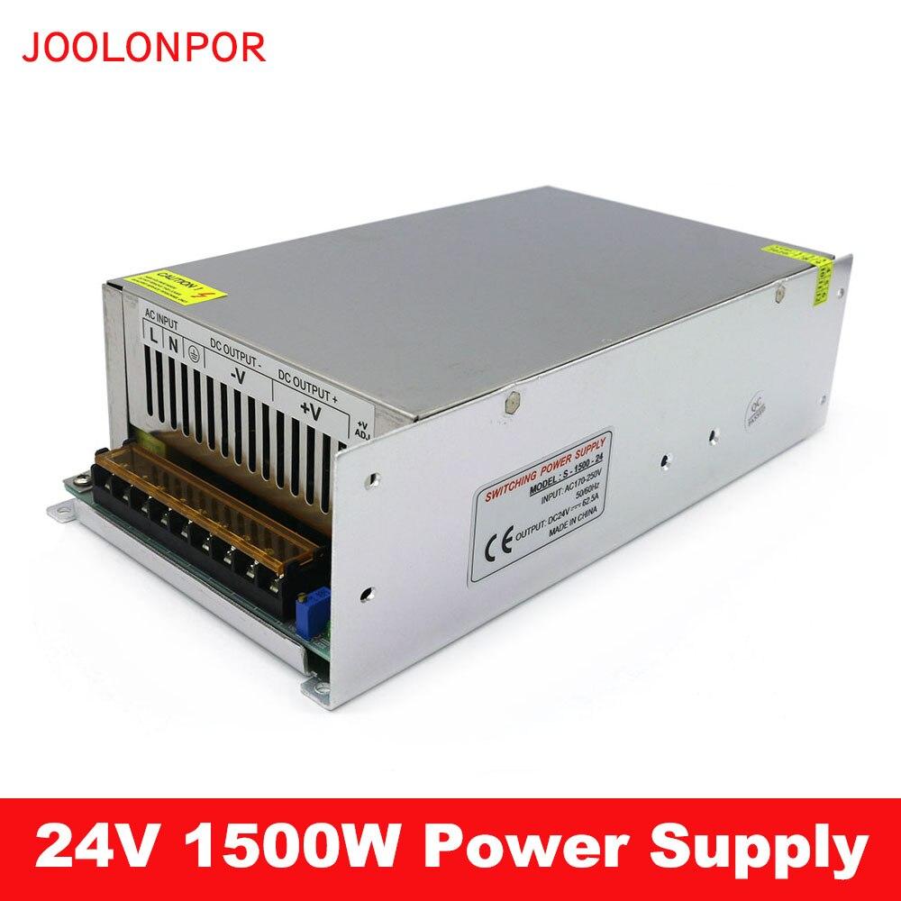 Fuente de alimentación conmutada de 24V 110V / 220V a 24V 62,5a 1500W fuente de alimentación led CCTV/tira LED adaptador de corriente de CA a CC