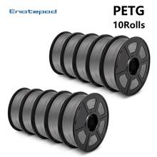 Enotepad PETG Filament for 3D Printer 1kg 1.75mm 5/10rolls 2.2 LBS High Strength Eco-friendly 100% Bubble 3D Printing Material