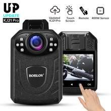 BOBLOV KJ21Pro kamera noszona na ciele 2.4G pilot dotykowy ekran HD1296P KJ21 zaktualizowana kamera policyjna Mini kamera kamera do noszenia kamery