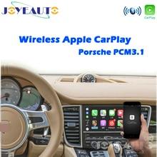 Joyeauto 무선 Apple Carplay For Porsche Cayenne Macan Cayman Panamera Boxster 718 911 PCM3.1 Android 자동 자동차 재생 어댑터