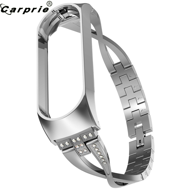 CARPRIE Watch-Strap Bracelet Mi-Band Smart-Watch Stainless-Steel Xiaomi Replacement-Accessory