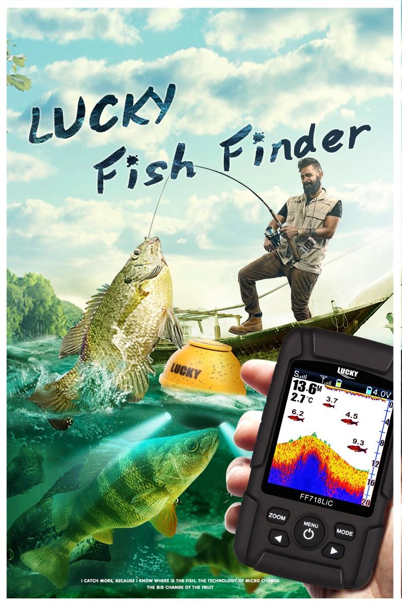 LUCKY  FF718LiC-W Fish Finder Wireless Fishfinder Fishing Sonar