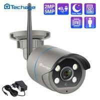 Techage 1080P 5MP inalámbrica cámara de IA de dos vías de Audio seguridad Wifi cámara IP IR al aire libre P2P TF tarjeta de vídeo CCTV vigilancia