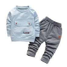 Детские хлопковые комплекты одежды для мальчиков и девочек модная