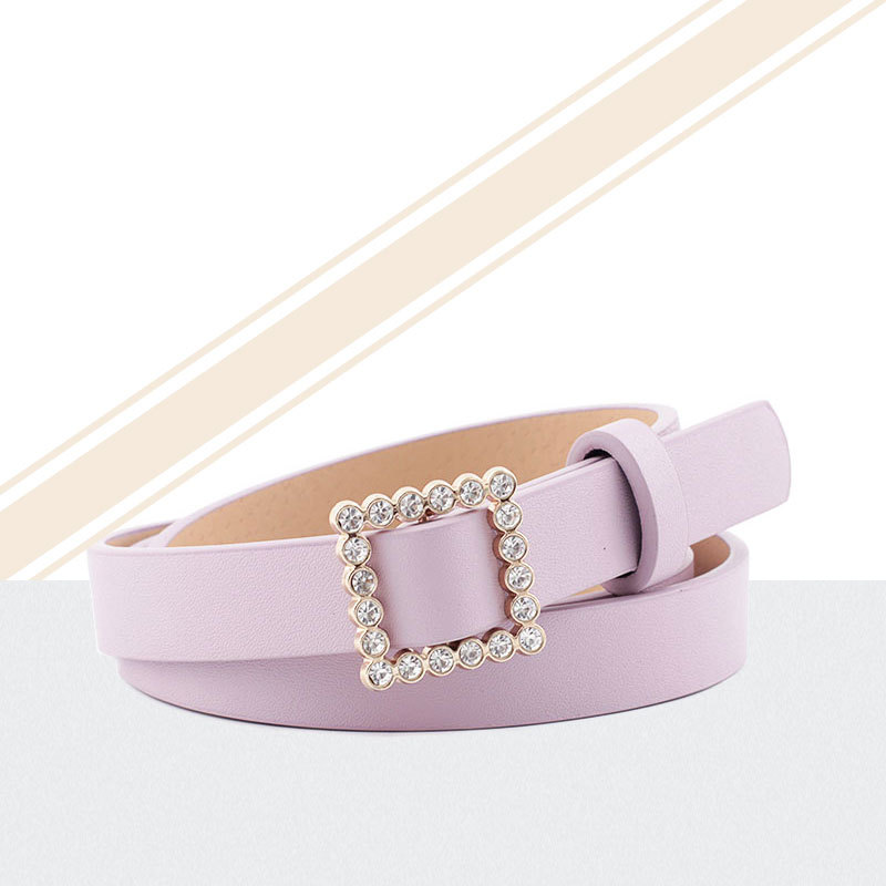 Women Belts Luxury Brand Casual Ladies Alloy Pearl Decoration Pin Buckle Belts Women's PU Leather Belt Trousers Jeans image