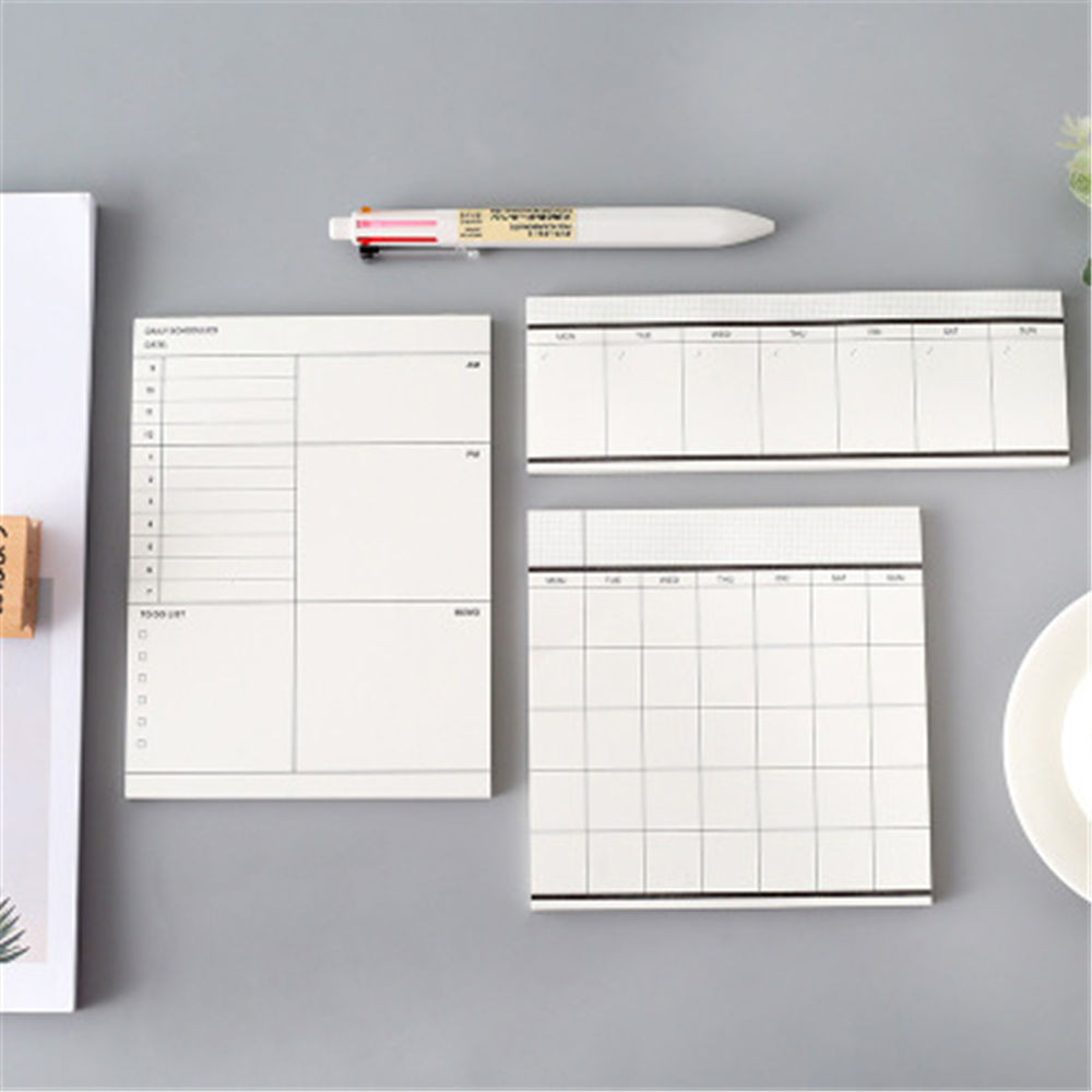 Weekly Monthly Desk Diary Planner Stickers Planning Memo Pad Sticky Notepad To Do List Checklist Memo Pad Paper School Office