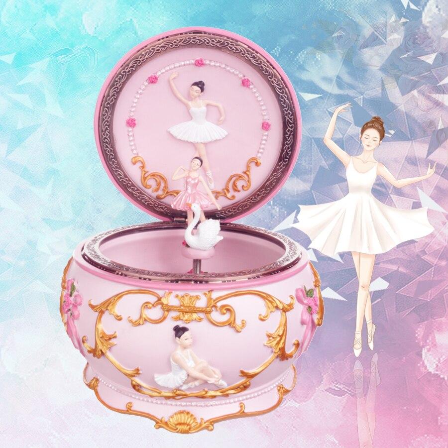 Романтическая Подростковая танцевальная балерина, светящаяся Музыкальная Коробка в виде лебедя и озера, Свадебный Рождественский подарок ...