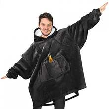 Ленивое одеяло с пивным карманом для барбекю теплая одежда зимняя