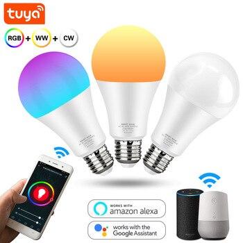 Smart LED Light Bulb 12W 15W Wifi RGB Lamp E27 Color Dimmable Led Bulb Work With Tuya Smart Life APP Voice Control Alexa Google