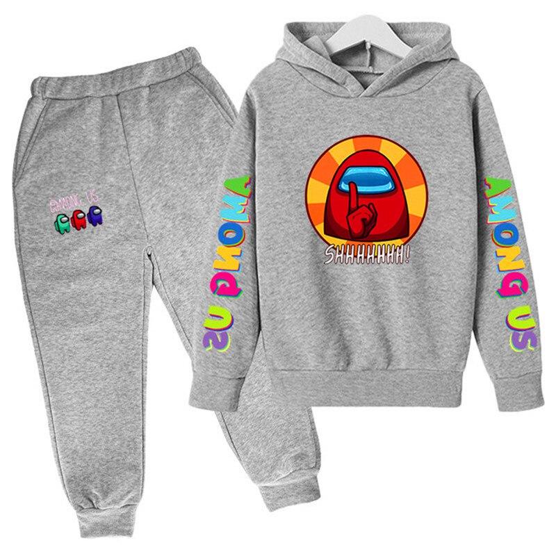 Parmi nous vêtements de mode jeu Style chemises pour enfants coton filles vêtements automne bébé garçon vêtements ensemble adolescent à capuche pantalon