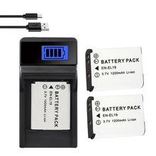 Зарядное устройство 1200 мАч для фотоаппаратов Nikon Coolpix S2600 S2700 S3100 S3500 S4100 S4150 S4400 S5200 S6400