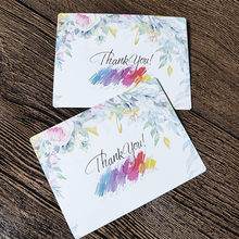 50pcs Flower Card Thank You Small Message Card Writable Paper Card 6x8cm Gift Bouquet Decorations for Wedding