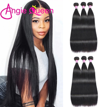 Hair-Bundles Remy-Hair Angie-Queen 100%Human-Hair Weave Natural-Color Straight