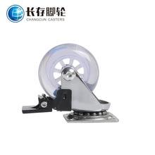 Напрямую от производителя продажи 2-дюймовый tou ming универсальный ПУ колесо с тормозом Truckle колесико для мебели бесшумный Подшипник Полиуретана Ca
