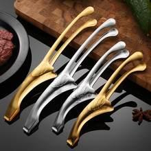 Clipe de comida de churrasco de aço inoxidável para churrasco de longa duração ambiental clipe de comida de churrasco para uso doméstico
