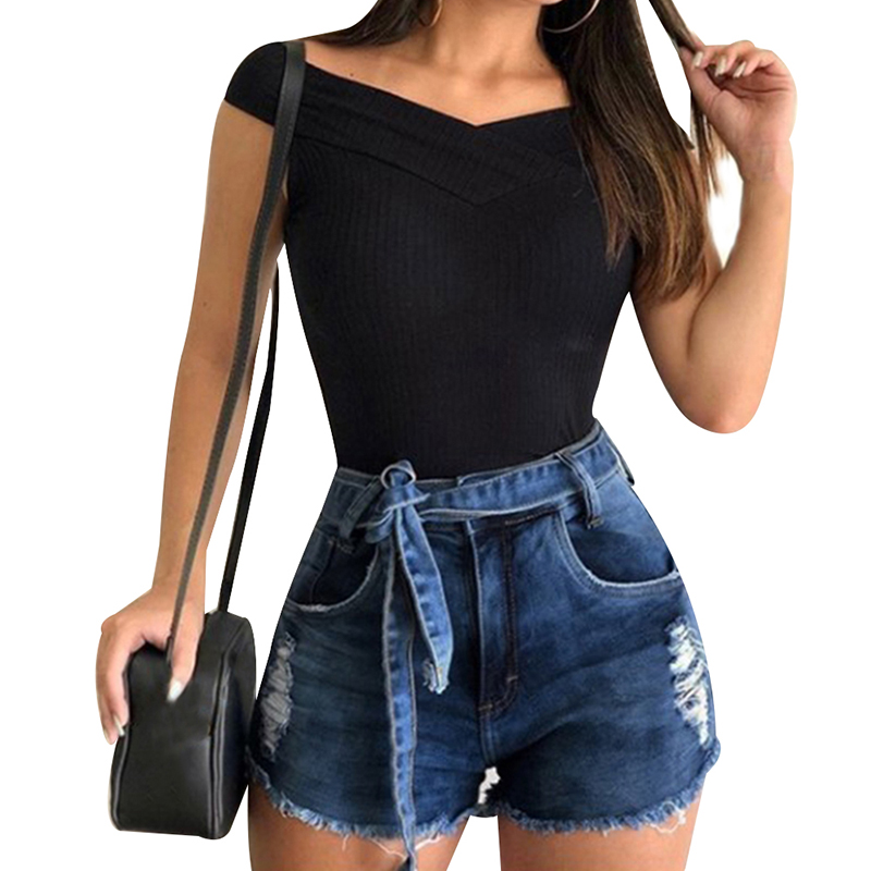 H55453f7b29eb405b9af086ce734295625 - Sexy Jeans Shorts Women Vintage Summer Hole Destroyed Shorts Ladies Mini Denim Short Feminino Casual Woman Jeans Shorts D30