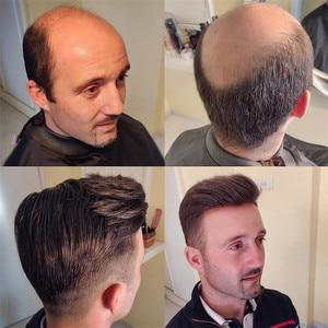 Image 5 - Evaglossメンズかつら 100% 本物の自然なレミー人間の髪かつらフレンチレース薄型puかつらの毛の交換システム