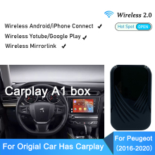 Wireless Android Auto Carplay Auto TV Set Per Peugeot Per Apple Auto Play TV Box Specchio Link Video in Auto adattatore