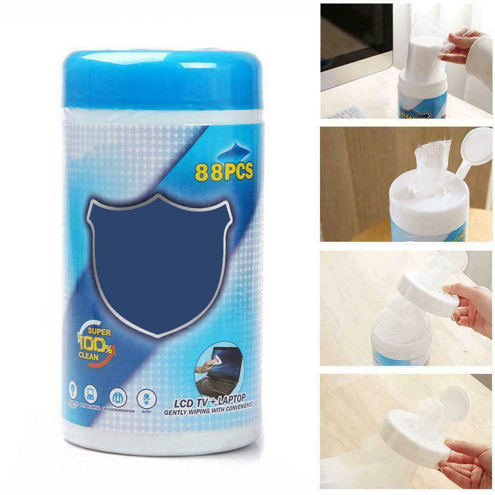 88Pcs/Box Cleaning Wet Wipes Soft Laptop Monitor LCD Phone Screen Lens Glass Wipes SP99