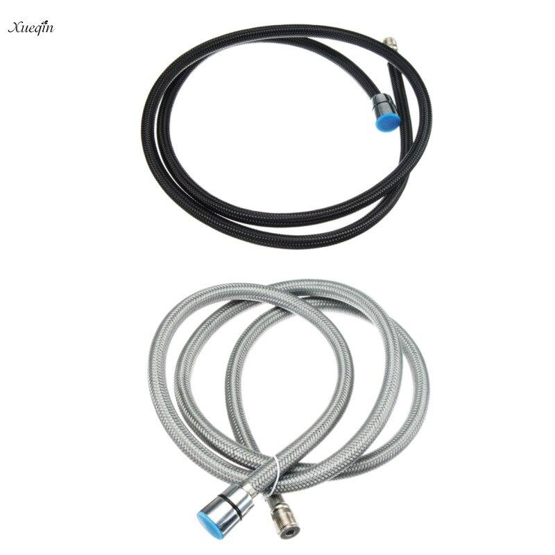 Xueqin 1,5 m Nylon Flexible Schwarz/Grau Wasser Rohr Wasser Schlauch Für Küche Pull Out Mixer Wasserhahn Bad Dusche schlauch Spary Kopf