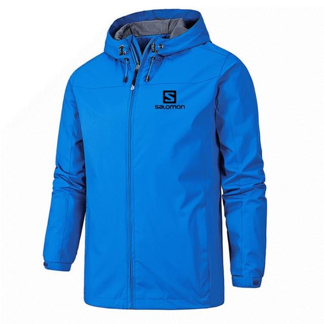 New Spring Jacket Men Hooded Zipper Waterproof Coat Windproof Solid Color Fashion Male Coat Outdoor Sportswear Bomber Coats 5XL 6