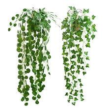 Искусственный Плющ 23 м зеленые листья фотообои цветы домашний