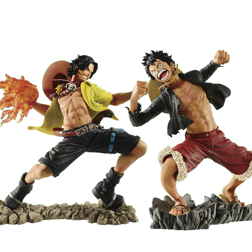 Anime <font><b>One</b></font> <font><b>Piece</b></font> <font><b>Luffy</b></font> Portgas D Ace PVC Action Figure toys 15cm fire punch Portgas D Ace <font><b>Luffy</b></font> Figure Collectible model toy gift image
