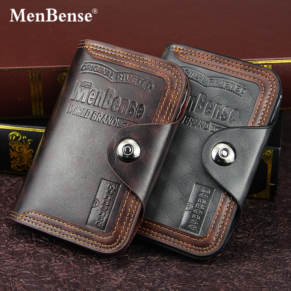 Men's Wallet Fashion Mens Vertical Section Coin Bag No Zipper Buckle Money Purses Design Dollar Slim Purse Money Clip Wallet 591