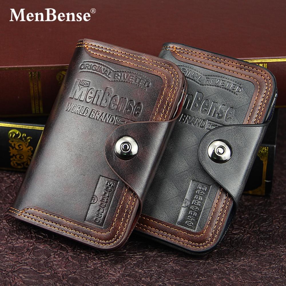 Men's Wallet Fashion Mens Vertical Section Coin Bag No Zipper Buckle Money Purses Design Dollar Slim Purse Money Clip Wallet 591