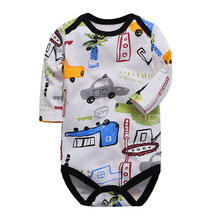 Baby Boys Clothing Romper Newborn Jumpsuit Long Sleeve 100% cotton 3 6 9 12 18 24 Months Toddler Infant Girls Clothes baby romper infant toddler boys gentlemen clothes bowknot long sleeve cotton rompers body clothing jumpsuit