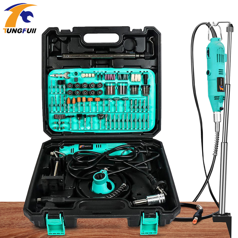 Tungfulll Mini Drill Power Tool Power Source AC 220V Drilling Machine Power Tool Accessories For Dremel Engraving Cutting