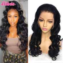 Alibele Peruvian Loose Wave Lace Front Wig 13x4 Pre Plucked Lace Front Human Hair Wig With Baby Hair 10 26 inch Wavy Lace Wig