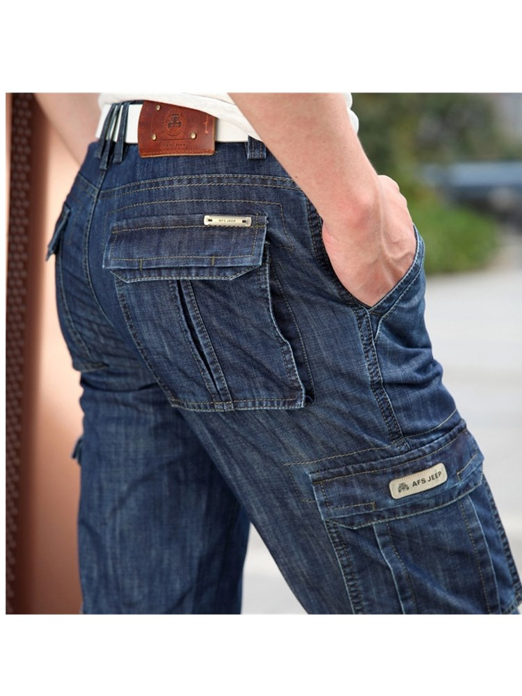 Jeans Military Multi-Pocket Big-Size Casual Male High-Quality New 42 Men 29-40