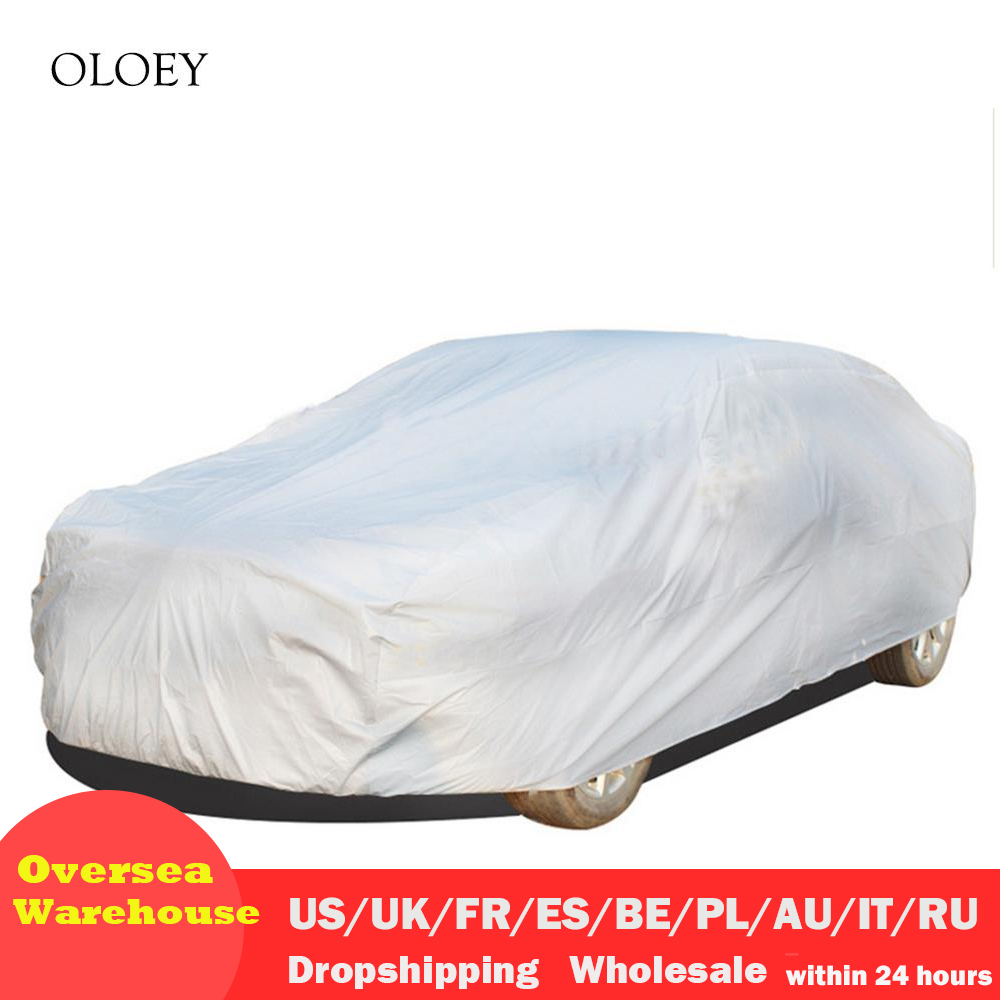 Waterproof Car Covers Outdoor Cover Sun Snow Protective Automobile Shield Universal Snow Dust Resistant Protection Cover