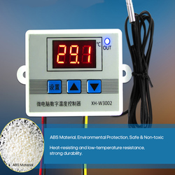 XH-W3002 Intelligent Led Digital Microcomputer Temperature Controller Mini Thermostat Switch with Water-resistant Sensor Probe