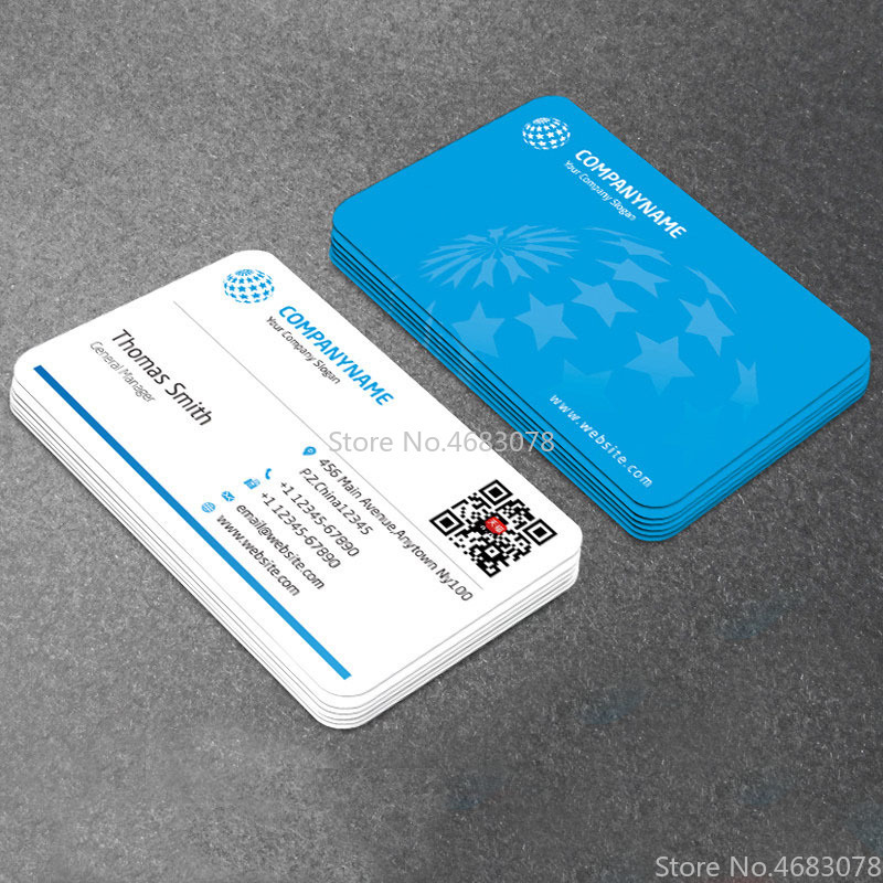 Paper-Cards Custom-Logo-Printing 300GSM with 90x53mm 500pc/1000pc/lot