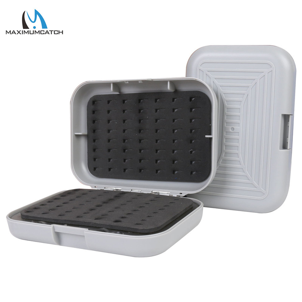 Maximumcatch Plastic Fly Fishing Box Swing Leaf Slit Easy-Grip Foam Hook Fly Box
