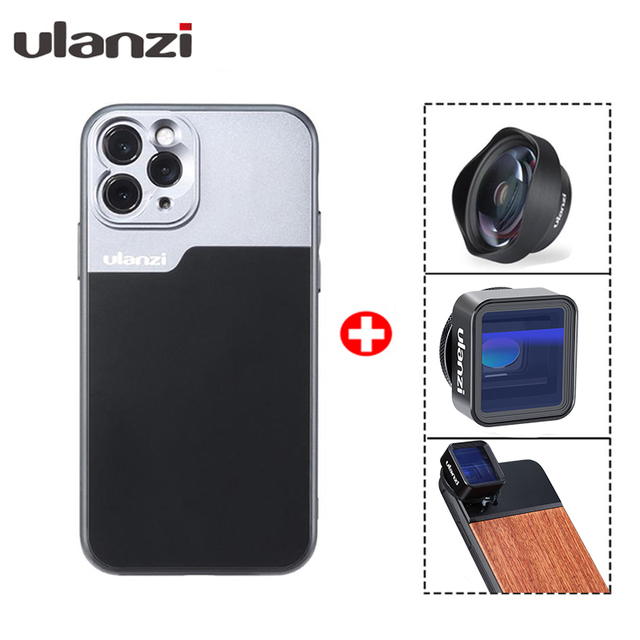 Custodia per telefono con filettatura Ulanzi 17mm per iPhone 12 11/11 Pro/11 Pro max Huawei P30 Pro Samsung Note 10 per obiettivo anamorfico con custodia