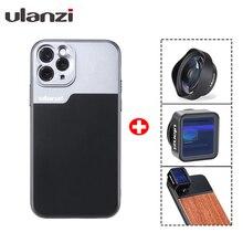 Ulanzi 17mm wątek etui na telefon dla iPhone 12 11/11 Pro/11 Pro max Huawei P30 Pro Samsung uwaga 10 dla obiektywu anamorficznego W etui