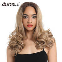 Noble Synthetic Lace Front Wig For Black Women Trendy Lace Front Wig Synthetic Hair Wave 20Inch Ombre Blond Hair Synthetic Wig