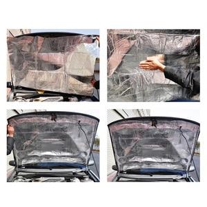 Image 2 - 140x100cm bruit Deaden voiture coussin disolation thermique capot Pad moteur insonorisé voiture isolation thermique protection détanchéité thermique pour Auto