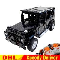 LP Technic 20090 MOC Jeep Wrangler Rubicon RC 20100 G500 AWD Wagon RC Motor Compatible Leleings 5140 2425 Blocks Brick