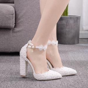 Fashion White Lace Flowers Wom