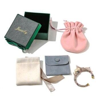 Yhpup Earrings Ring Necklace Jewelry Gift Box Velvet Bag - sale item Jewelry Packaging & Display